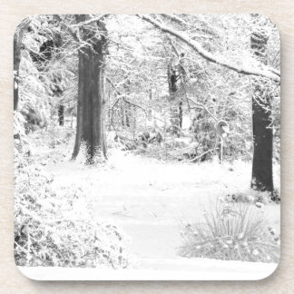 winter wonderland drink coaster