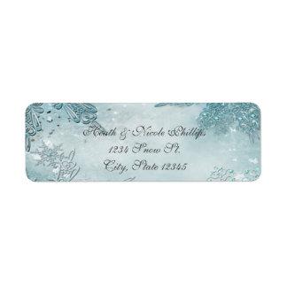 Winter Wonderland Elegant Magical Snowflakes Label