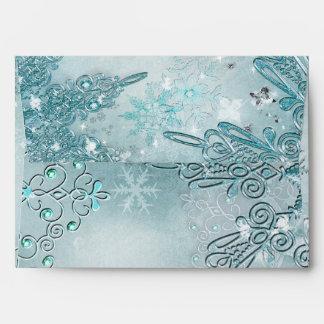 Winter Wonderland Elegant Snowflakes Envelope
