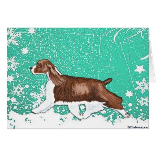 Winter Wonderland English Springer Spaniel Holiday Card