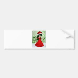 Winter Wonderland Fairy Bumper Sticker
