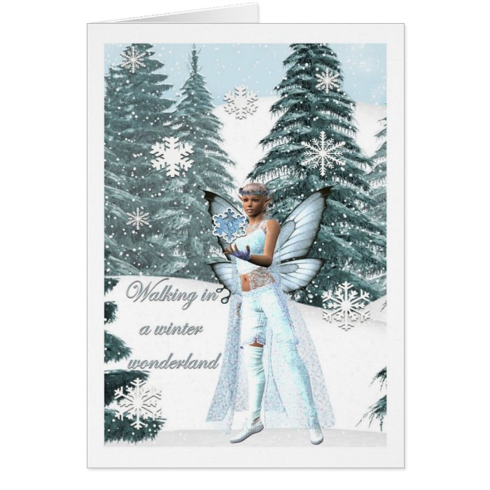 winter wonderland Fairy card