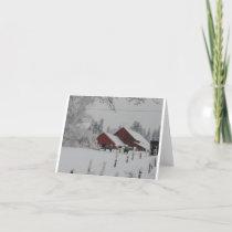 Winter Wonderland Farm Holiday Card