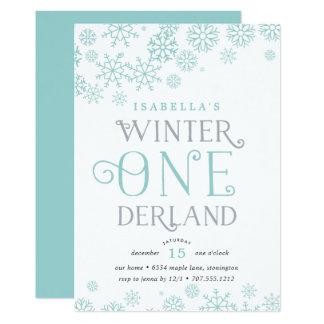 Winter Wonderland First Birthday Party Invitation