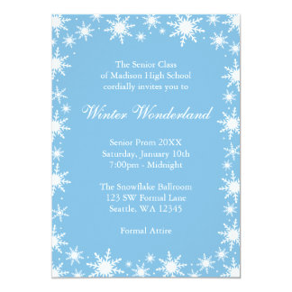 Winter Wonderland Formal Prom Dance Ball Card