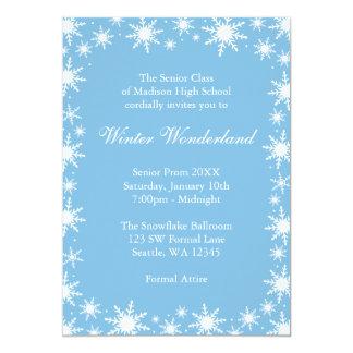 "Winter Wonderland Formal Prom Dance Ball 5"" X 7"" Invitation Card"