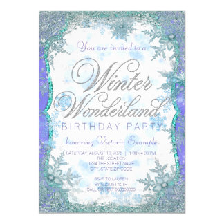winter wonderland invitations,  winter wonderland, Birthday invitations