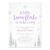 Winter Wonderland, Girl Baby Shower/Baby Sprinkle Card