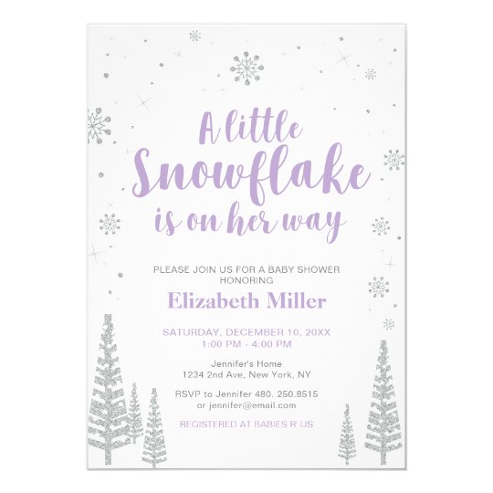 winter wonderland girl baby shower baby sprinkle invitation