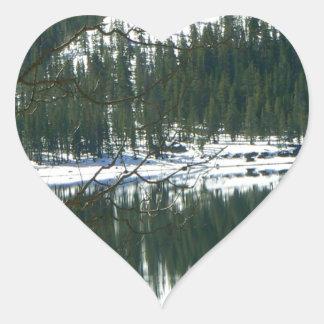 Winter wonderland. heart sticker
