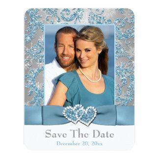 Winter Wonderland, Hearts PHOTO Save The Date Card