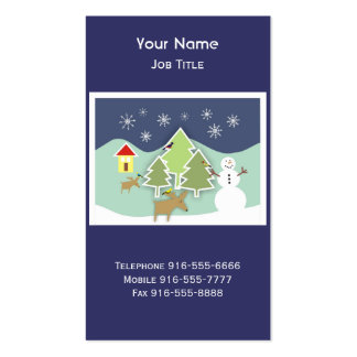 Winter Wonderland Holiday Business Cards