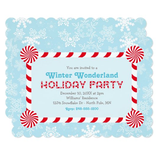 Winter Wonderland Holiday Party Invitation Zazzle Com
