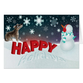 Winter Wonderland - holiday season greetings Cards