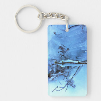 Winter Wonderland: Ice Rectangle Acrylic Keychain
