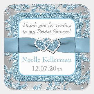 Winter Wonderland, Joined Hearts Bridal Shower Sticker