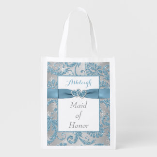 Winter Wonderland, Joined Hearts Maid of Honor Bag Reusable Grocery Bags