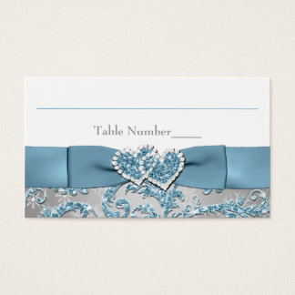 Winter Wonderland, Joined Hearts Place Card