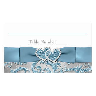 Winter Wonderland, Joined Hearts Place Card Business Card Templates