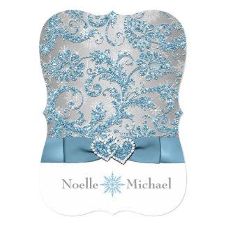 Winter Wonderland Joined Hearts Wedding Invite 2