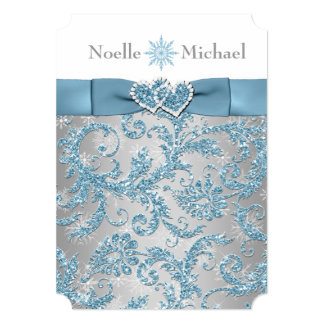 ice blue winter wedding invitations & announcements | zazzle, Wedding invitations