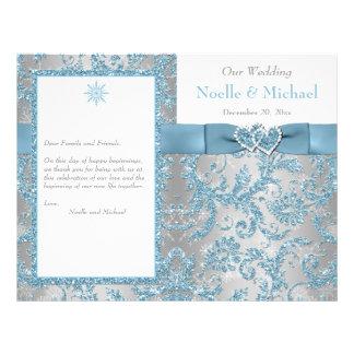 Winter Wonderland, Joined Hearts Wedding Program