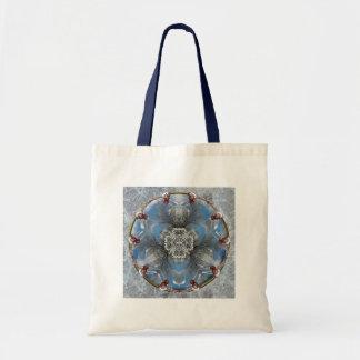 Winter wonderland kaleidoscope budget tote bag