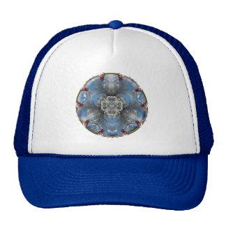 Winter wonderland kaleidoscope trucker hat
