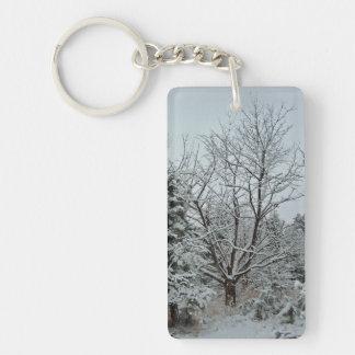 Winter Wonderland Rectangular Acrylic Keychains