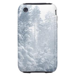 Winter Wonderland Landscape Snow Scene Blue iPhone 3 Tough Cases