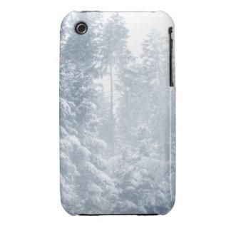Winter Wonderland Landscape Snow Scene Blue Case-Mate iPhone 3 Cases