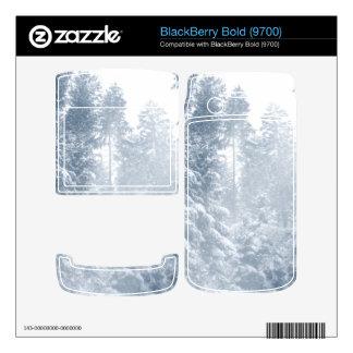 Winter Wonderland Landscape Snow Scene Blue BlackBerry Bold Decal