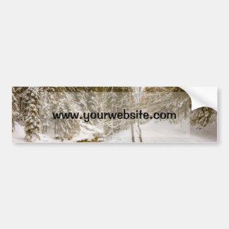 Winter Wonderland Landscape With A River Bumper Stickers