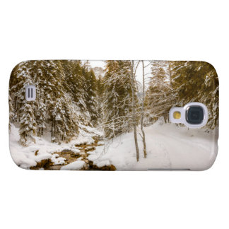 Winter Wonderland Landscape With A River Galaxy S4 Cover
