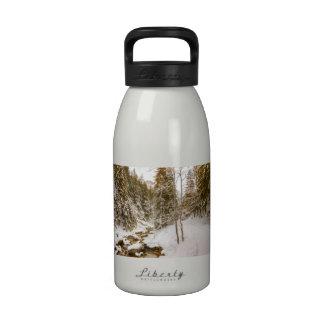 Winter Wonderland Landscape With A River Drinking Bottle