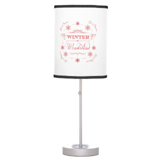 Winter Wonderland Let it Snow Christmas Holiday Table Lamp