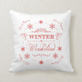 Winter Wonderland Let it Snow Christmas Holiday Throw Pillow