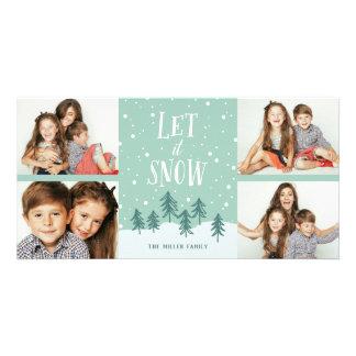 Winter Wonderland Let It Snow | Holiday 4- Photo Card