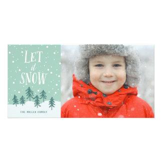 Winter Wonderland Let It Snow | Holiday Photo Card