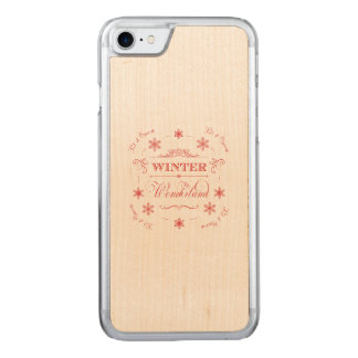 Winter Wonderland Let it Snow Ski Season Christmas Carved iPhone 8/7 Case