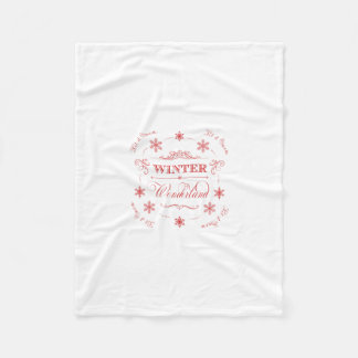 Winter Wonderland Let it Snow Ski Season Christmas Fleece Blanket