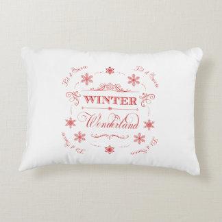 Winter Wonderland Let it Snow Ski Season Christmas Accent Pillow