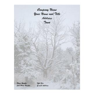 Winter Wonderland Letterhead Template