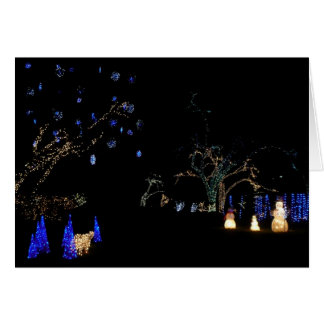 Winter Wonderland Lights Blue and White Holiday Card