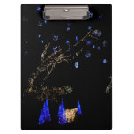 Winter Wonderland Lights Blue and White Holiday Clipboard