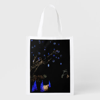 Winter Wonderland Lights Blue and White Holiday Market Tote