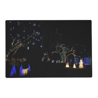 Winter Wonderland Lights Blue and White Holiday Placemat