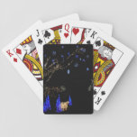 Winter Wonderland Lights Blue and White Holiday Playing Cards