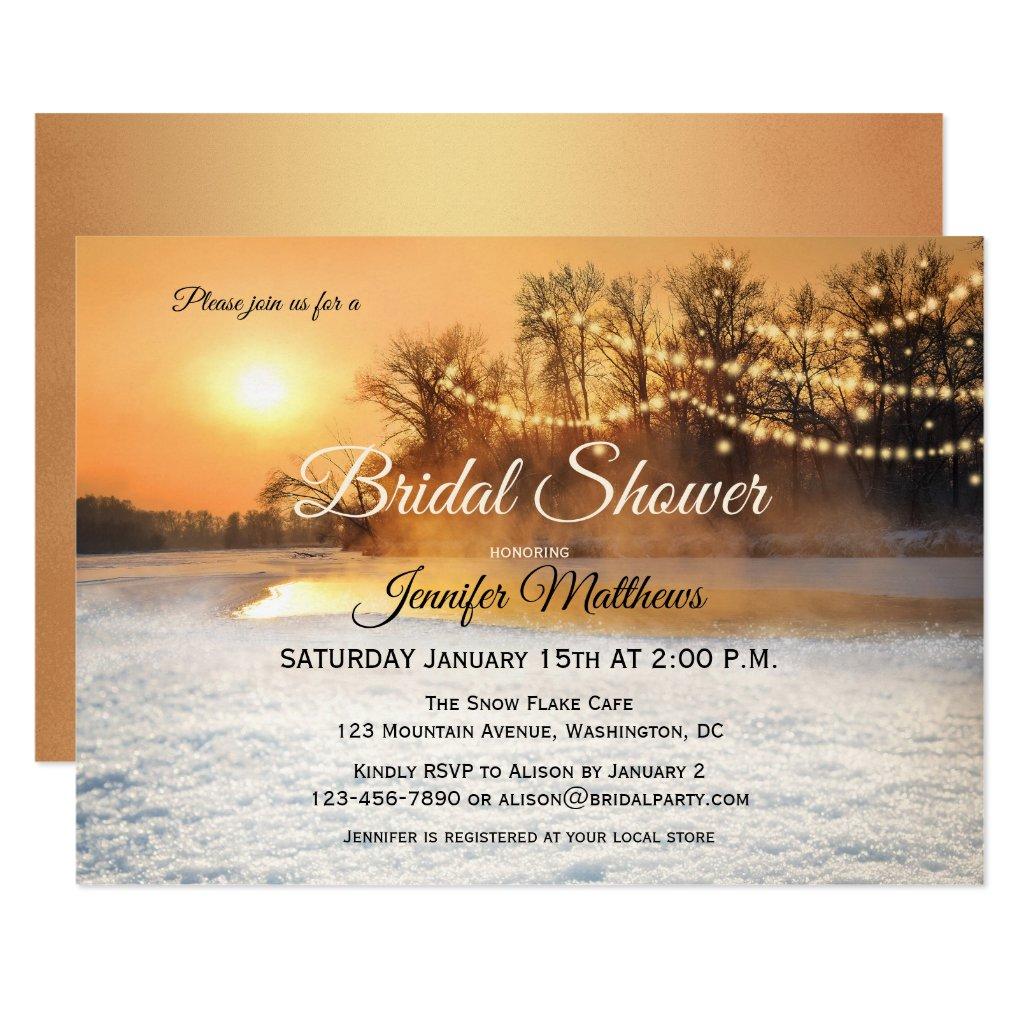 Winter Wonderland Lights Bridal Shower Invitation
