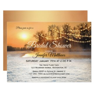 Winter Wonderland Lights Bridal Shower Invitation